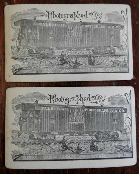 Palace Railroad Photograph Car Company c. 1900 Mother & Son lot of 2 portraits