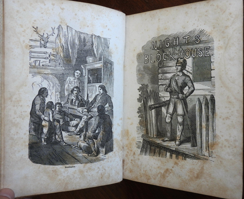 American Indians Western America 1853 Henry Watson Border Life Hunters D. Boone