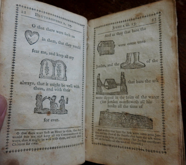 Hieroglyphic Bible for Children by R. Hill c. 1794 Boston Norman rebus juvenile