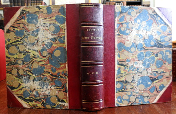 Brown University College History 1867 Guild rare Limited Ed antique leather book