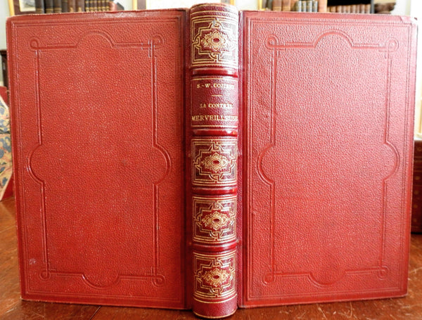 Arizona & New Mexico 1876 Marvelous Land Travels French illustrated leather book