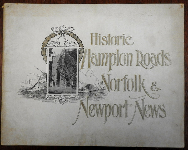 Hampton Roads Norfolk Newport News Virginia 1906 souvenir photo view album