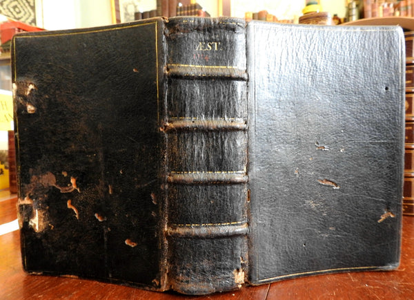 Roman Breviary 1714 Antony Cloche leather book Catholic religious calendar