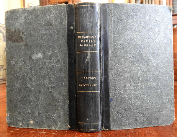 Saint's Everlasting Rest 1830 Richard Baxter American Tract Society leather book
