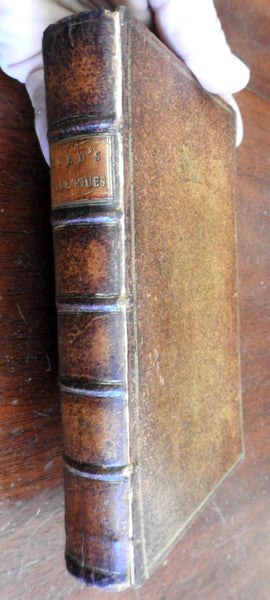 Moral & Political Dialogues 1760 lovely leather book