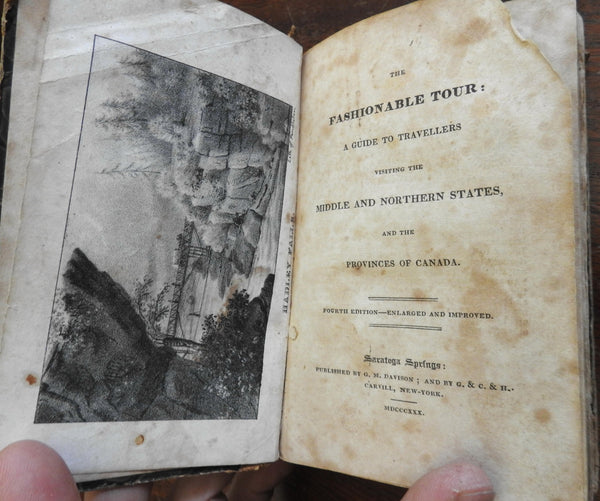 Fashionable Tour Guide book Middle & Northern States Canada 1830 travel book