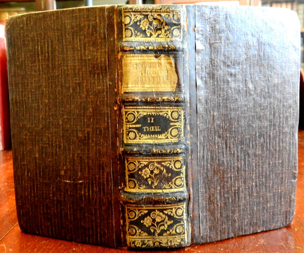 Johan Samuel Heinsius Theological Tracts Pamphlets 1772 antiquarian leather book