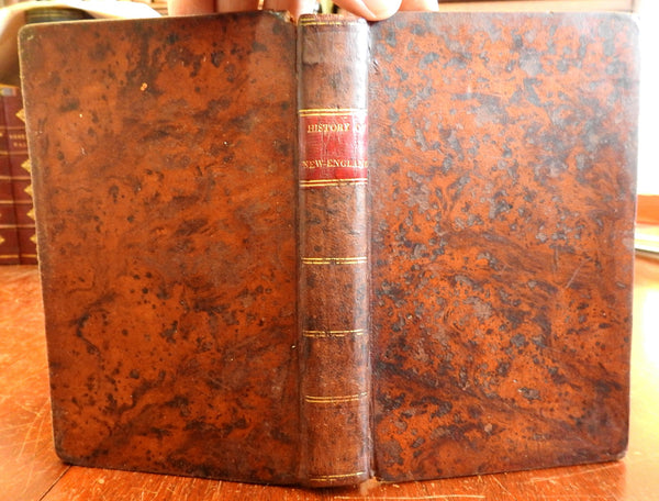 History of New England New York & New Jersey 1820 Morse Parish rare leather book