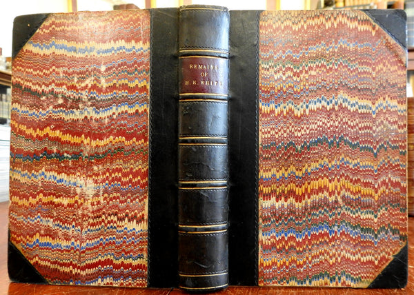 Remains Henry Kirke White 1813 Robert Southey leather prize book T.B Macaulay