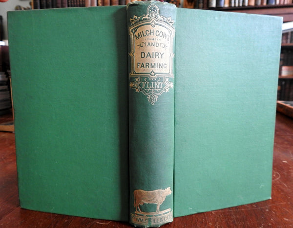Breeding Milch Cows Milk Dairy Farming 1874 Charles L. Flint illustrated book