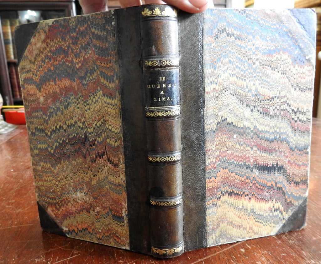 Quebec to Lima 1860 Viscount Basterot travel journal Canada & Peru rare book
