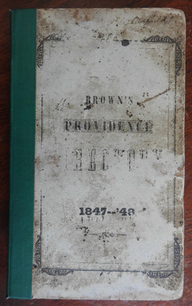 Providence Rhode Island City & Business Directory 1847 w/ advertising Americana
