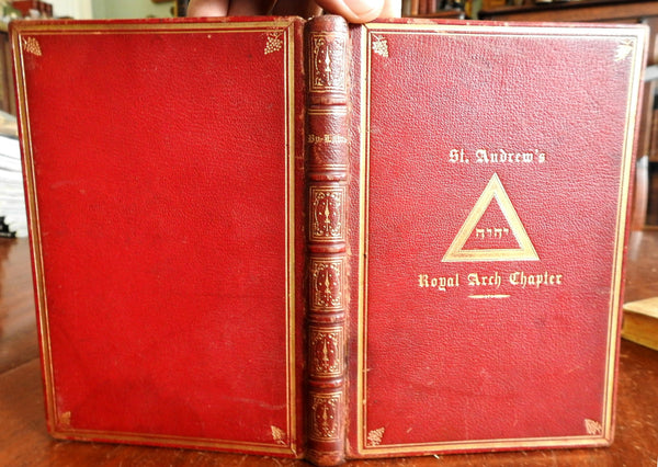 Bylaws of St. Andrew's Royal Arch Chapter Boston Freemason Order 1859 rare book