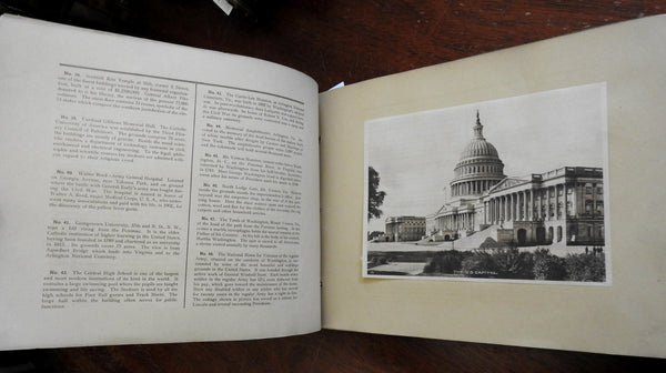 Washington D.C. Nation's Capital 1923 nice souvenir album 48 rotogravure plates