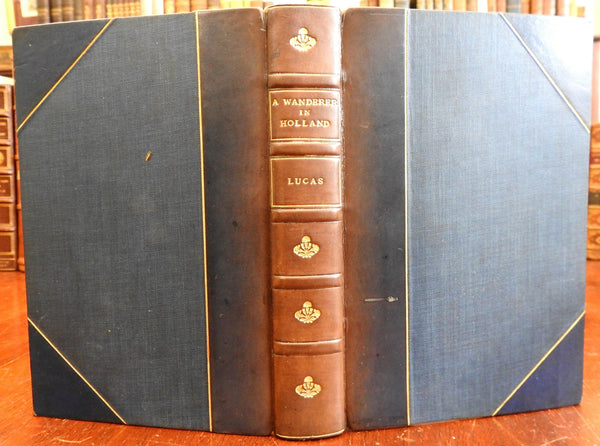 A Wanderer in Holland 1905 E.V. Lucas illustrated leather book w/ color plates
