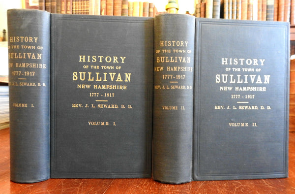 Sullivan New Hampshire Town History 1777-1917 Seward 1921 illustrated 2 vol. set