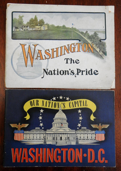 Washington D.C. Lot 2 Souvenir Albums 1902 illustrated 1942 view booklets