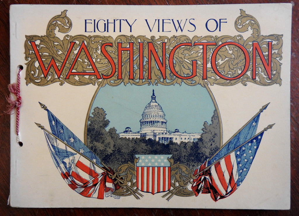 Washington D.C. 1900 Great Rand McNally illustrated souvenir album lovely cover