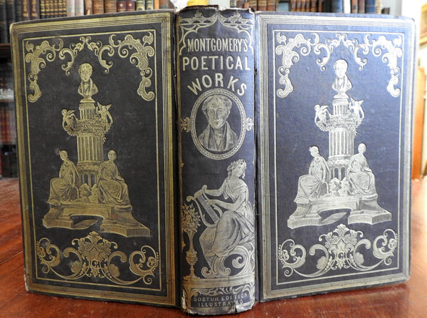 James Montgomery Collected Poetical Works 1853 lovely decorative gift binding