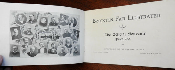 Brockton Massachusetts Official Souvenir Program 1901 illustrated program