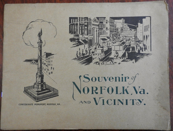 Norfolk Virginia c.1900-10 Americana illustrated souvenir view book album