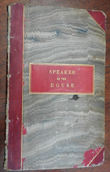 Rules of Orders 1848 Massachusetts Congress Speaker's Crowninshield's copy book