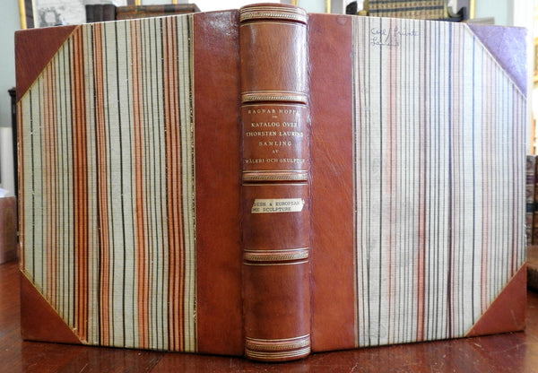 Thosten Laurins Samling Painting & Sculpture Swedish 1936 leather book
