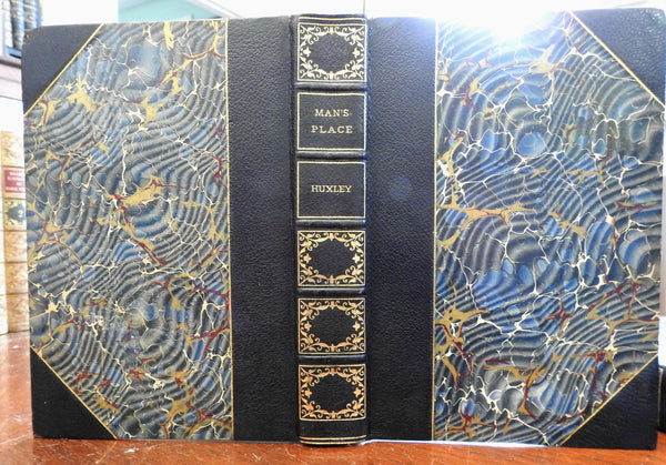 Man's Place Anthropology T.H. Huxley c.1890's limited edition fine leather book