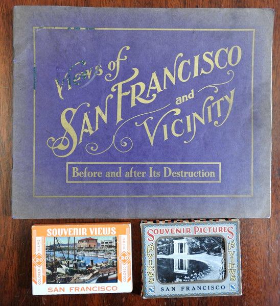San Francisco California Souvenir Album book & mini Post Cards 1900's-40's