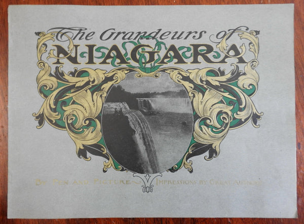 Niagara Falls NY views by Pen & Picture c. 1900 illustrated souvenir album