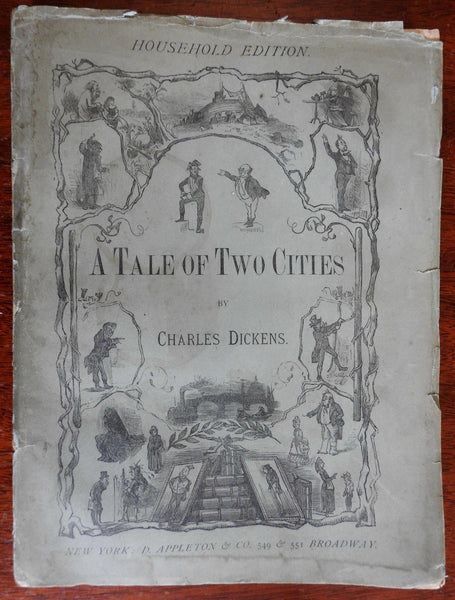 A Tale of Two Cities Charles Dickens Household Edition 1876 Barnard illustrated