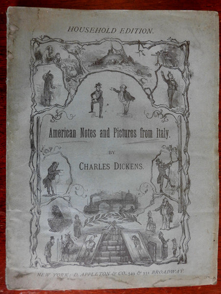 American Notes Charles Dickens Household Edition 1876 Appleton Frost illustrated
