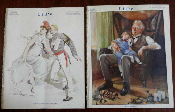 United States Army Lady Liberty War Toy Soldiers 1913 Life Magazine x 2 issues