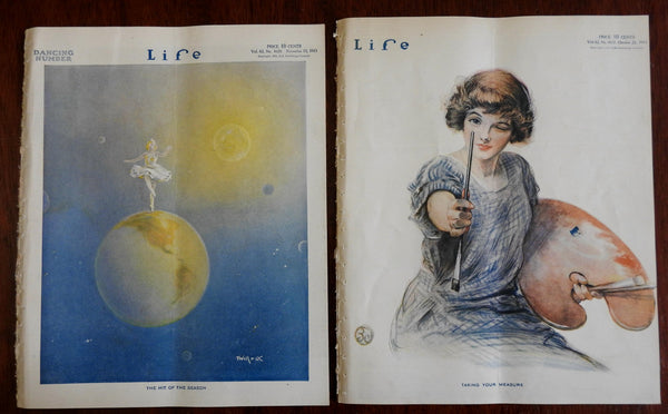 Ballerina planet dance Moonlight dancing Female Painter Life 1913 lot x 2 issues