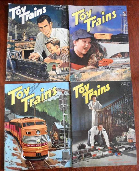Toy Trains Magazine 1951-2 American Hobby Magazine 4 issue lot illustrated fun!!