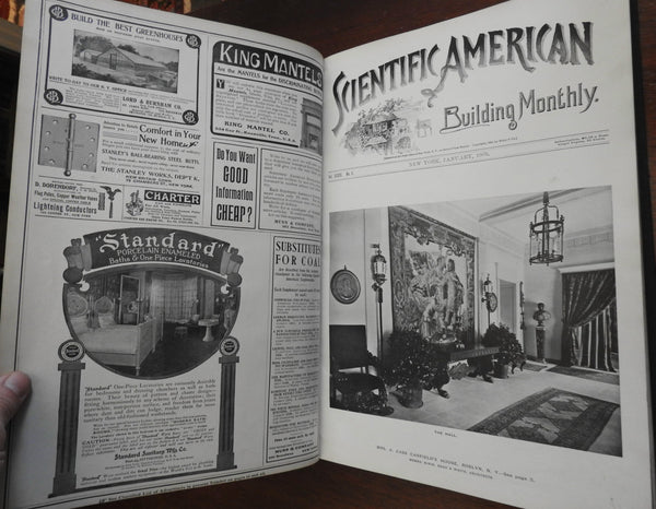 Rare Scientific American 1905 Home Building Architecture 6 issues fine houses