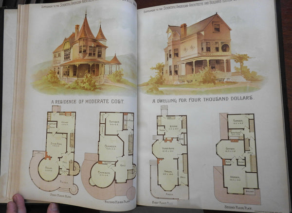 Scientific American 1889 Home Building Architecture 12 issues w/ 24 color plates