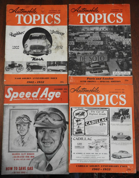 1950's American Automobile Magazines Lot x 4 Racing Collecting nice advertising