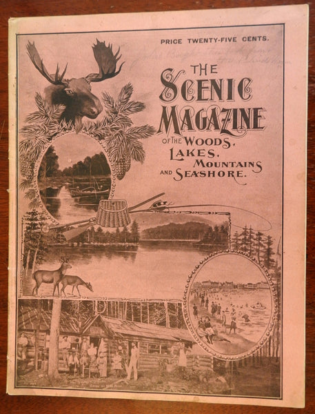 Scenic Magazine of Woods Lake Mountains Seashores 1900 Maine nature magazine