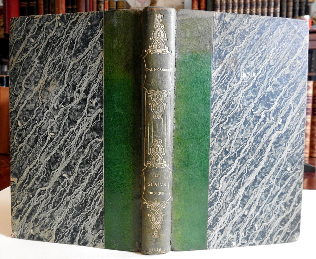 The Runic Sword Scandinavia Paganism and Christianity drama 1846 old French book