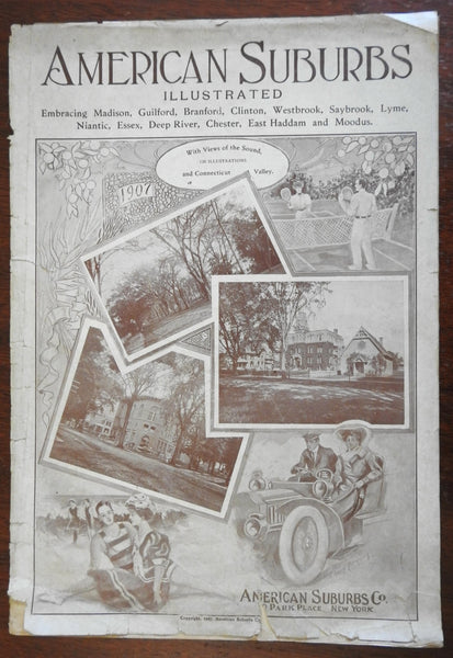 American Suburbs Illustrated 1907 Connecticut Edition illustrated magazine ads