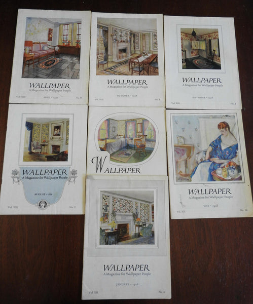 Wallpaper American Trade Magazine 1926-27 lot x 7 issues profusely illustrated
