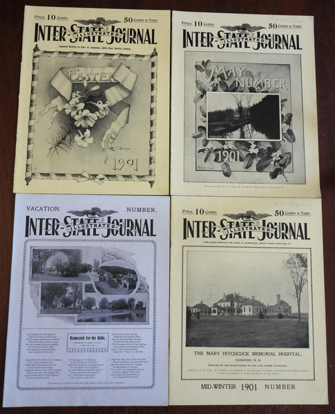 Vermont Inter-State Journal Americana 1900-1 rare VT magazine 4 issues