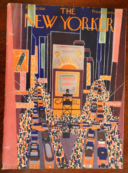 New Yorker magazine 1928 illustrated American literary Vol. IV #3 very early