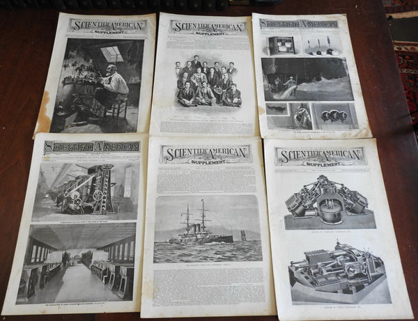 Scientific American Supplement 1898 Lot of 6 issues profusely illustrated