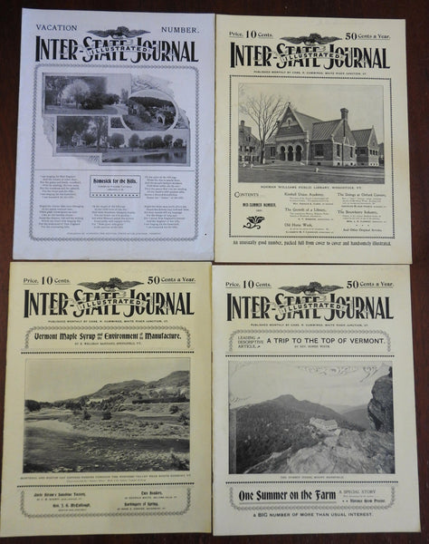 Inter-State Journal Vermont Green Mountains 1900-2 rare VT magazine 4 issues