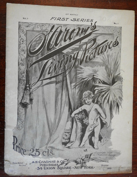 Sarony's Living Pictures First Series 1894 illustrated graphic arts magazine