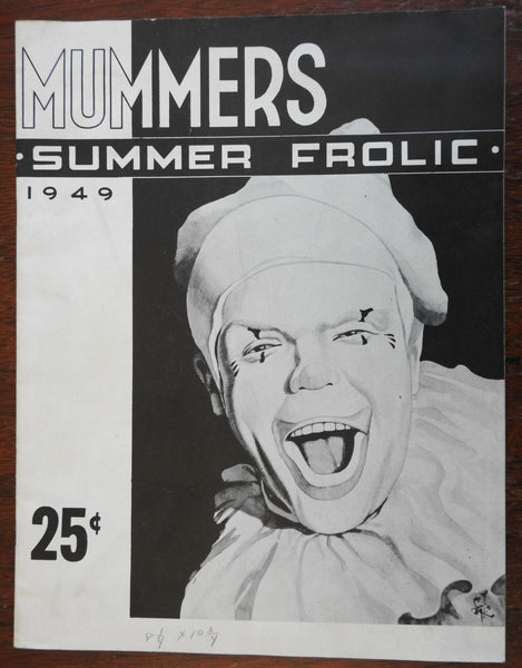 Mummer's Summer Frolic 1949 Clown cover illustrated magazine parades costumes