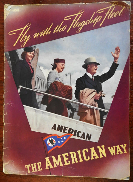 American Airlines Flagship Fleet 1938 illustrated souvenir advertising booklet