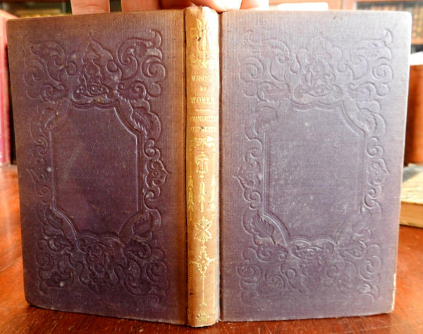 The Wrongs of Woman 1843 Charlotte Elizabeth Milliners Dress makers old book